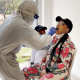 See Photo Of Tonto Dikeh Being Tested For For Coronavirus