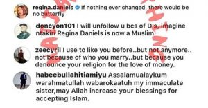 Regina Daniels Allegedly Dumps Christianity, Convert To Islam As Her Religion 6