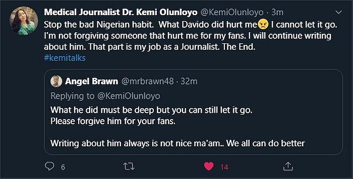 """What Davido Did To Me Hurts, I'll Keep Exposing Him"" – Kemi Olunloyo"