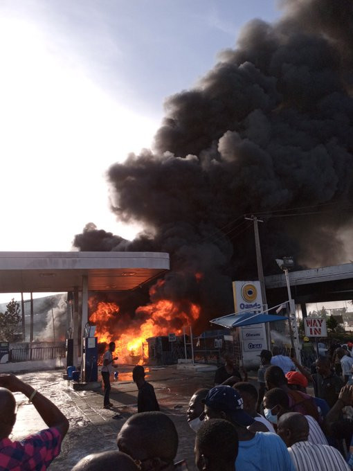 Petrol Tanker Explodes At Obalende Flyover, One Person Dead (Photos/Video)