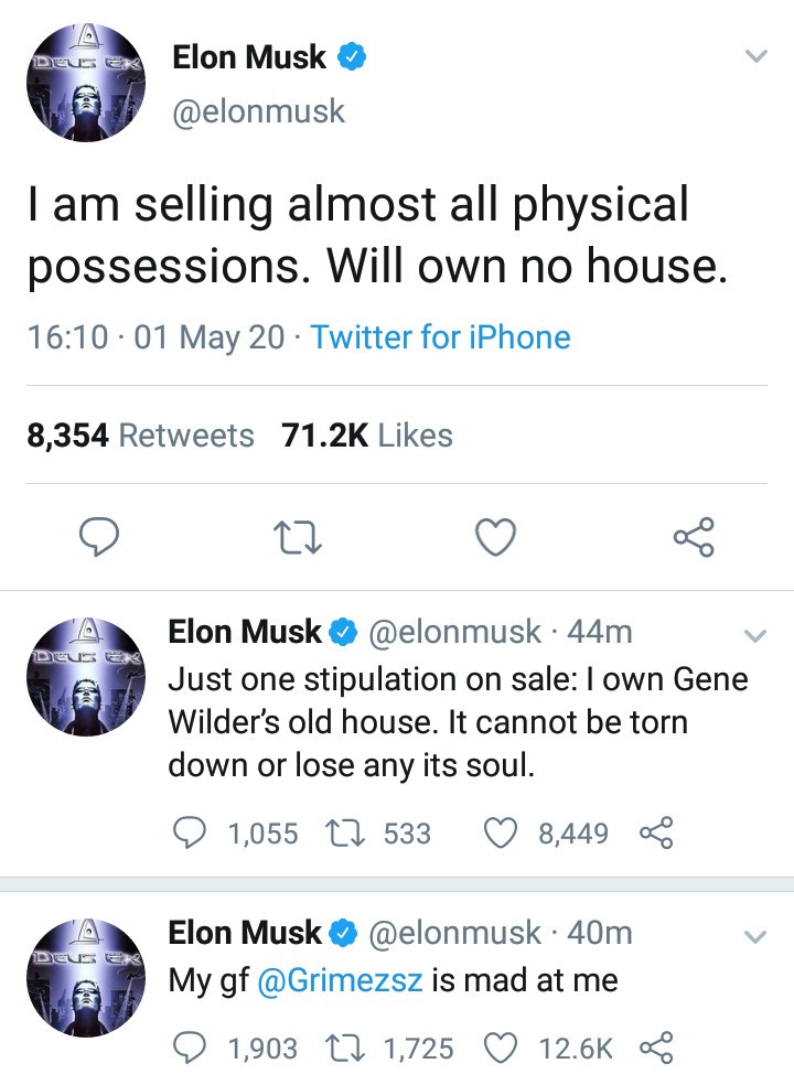 I'm Selling Almost All My Physical Possessions, Will Own No House – Billionaire, Elon Musk
