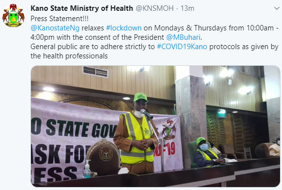 President Buhari Permitted Us To Ease Lockdown – Kano State Gov't
