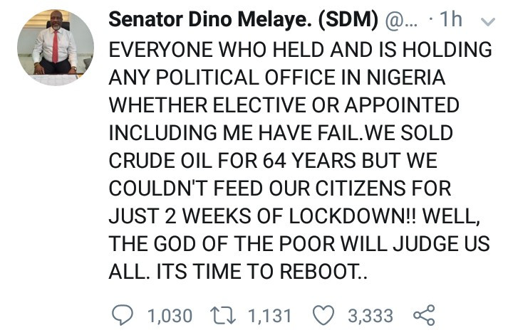 """""""God Of The Poor Will Judge Every Politician Past and Present, Including Me"""" – Dino Melaye"""