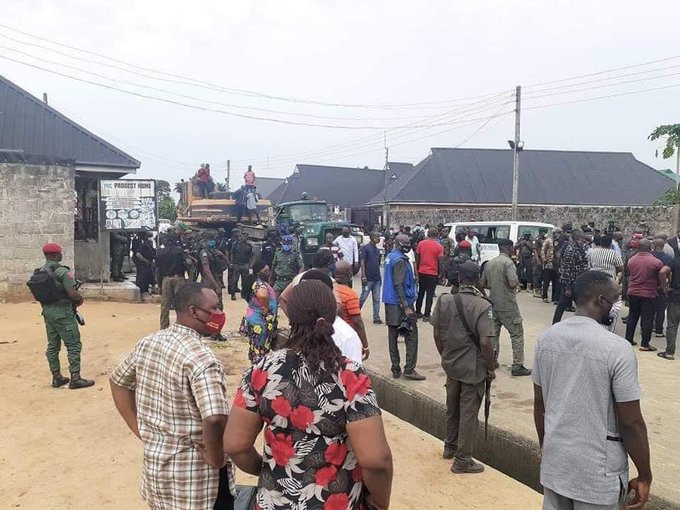 Governor Wike Demolishes Two Hotels For Violating Lockdown Rules (Photos) 3