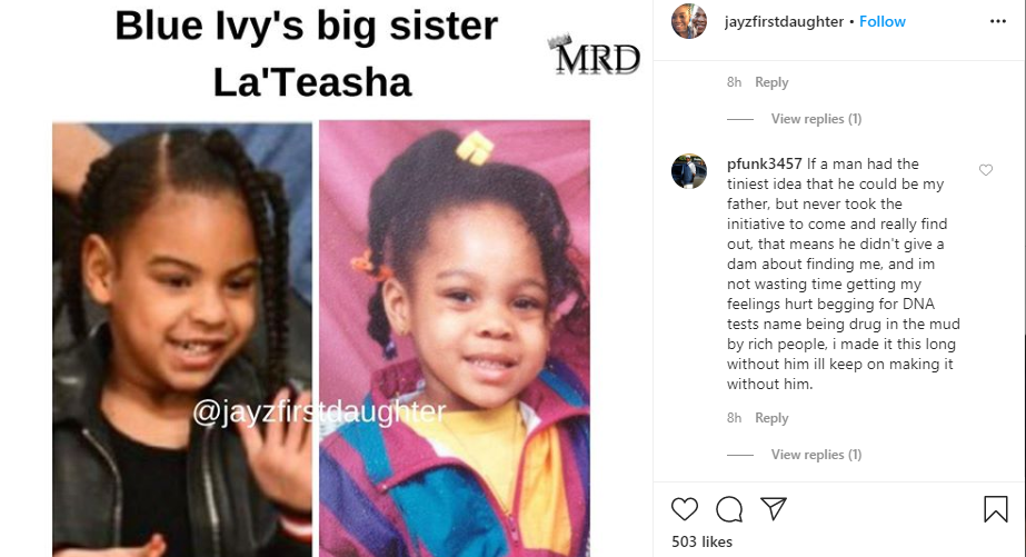 29-Year-Old Lady Says She's Jay-Z's Secret Daughter, Shows 'DNA Proof'