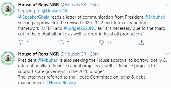 President Buhari Seeks House of Representatives' Approval To Borrow $5.513 Billion