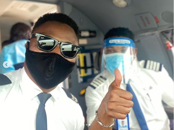 Omotola Jalade Shares Photos Of Her Husband Flying Out Chinese Nationals Who Arrived Nigeria Weeks Ago