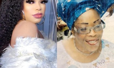 Bobrisky Shares Photo Of His Late Mother, Reveals How She Died