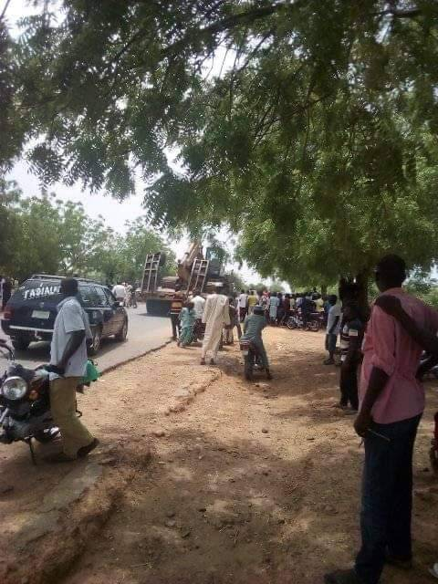 Coronavirus Patients Protest Over Inadequate Medical Attention, Block Highway, Destroy Properties In Gombe