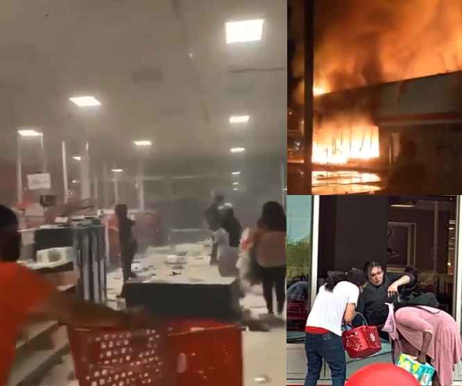 George Floyd's Death: Protesters Loot Malls, Burn Buildings In Minneapolis (Video)