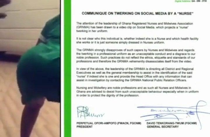 Ghanaian Nurse Declared Wanted For Twerking In Uniform (Watch Video)