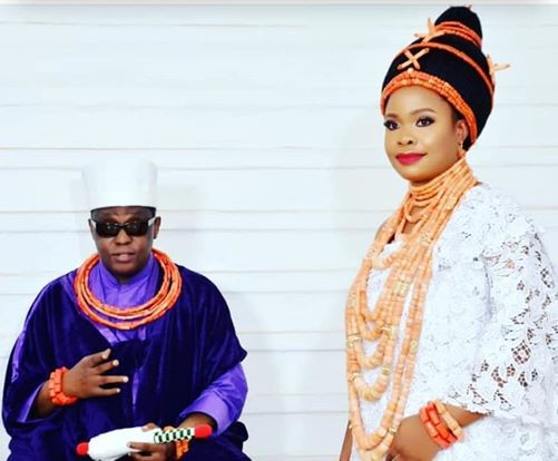 Oba of Benin And His Second Wife Welcome Baby Boy