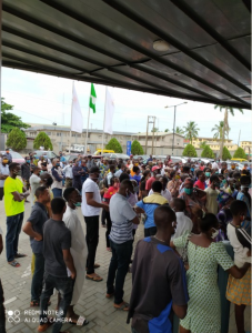 Photos Of Crowded GTBank This Morning 10