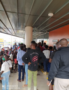 Photos Of Crowded GTBank This Morning 11