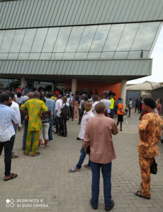 Photos Of Crowded GTBank This Morning 12