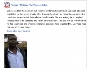 Kenyan journalist brutally murdered by unknown assailants on his way home from work 6