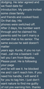 Man Identified As Kunle Dumps Lady After 28 Abortions – She Threatens Him With Madness 12
