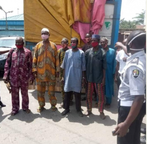 CBD Operatives Arrest Miscreants Hidden In A Truck Transporting Goods To Lagos 6