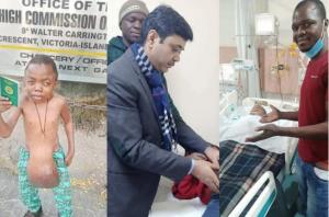 Indian Doctors Remove Odinaka Nweke's Stomach Tumor 8