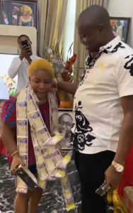Woman Cries As Husband Surprises Her On Her Birthday With IPhone, Money In Cake 9
