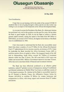 Obasanjo, Zainab Ahmed Writes AfDB, Says U.S Has Ridiculed The Governance System 10