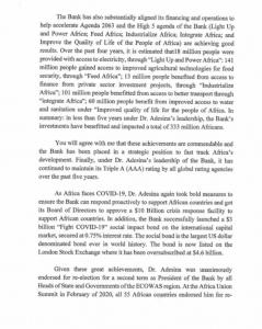 Obasanjo, Zainab Ahmed Writes AfDB, Says U.S Has Ridiculed The Governance System 11