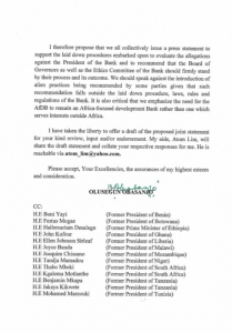 Obasanjo, Zainab Ahmed Writes AfDB, Says U.S Has Ridiculed The Governance System 13