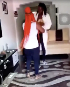 Lady and Her Friends Storm The House Of Her Cheating Boyfriend To Destroy His Car 5
