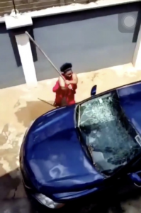 Lady and Her Friends Storm The House Of Her Cheating Boyfriend To Destroy His Car 6