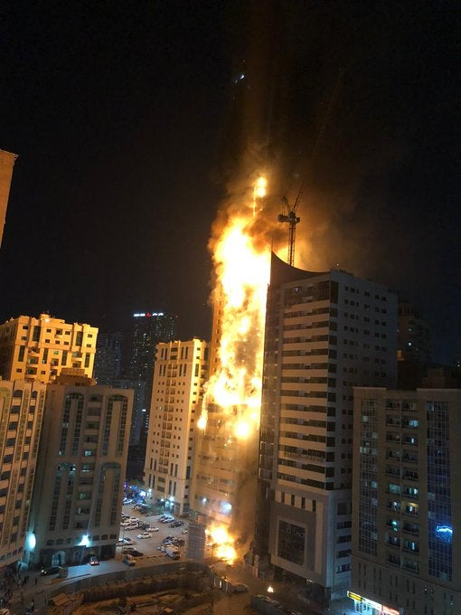 Sharjah Fire: Fire Destroys 48-Storey Building In UAE (Video)