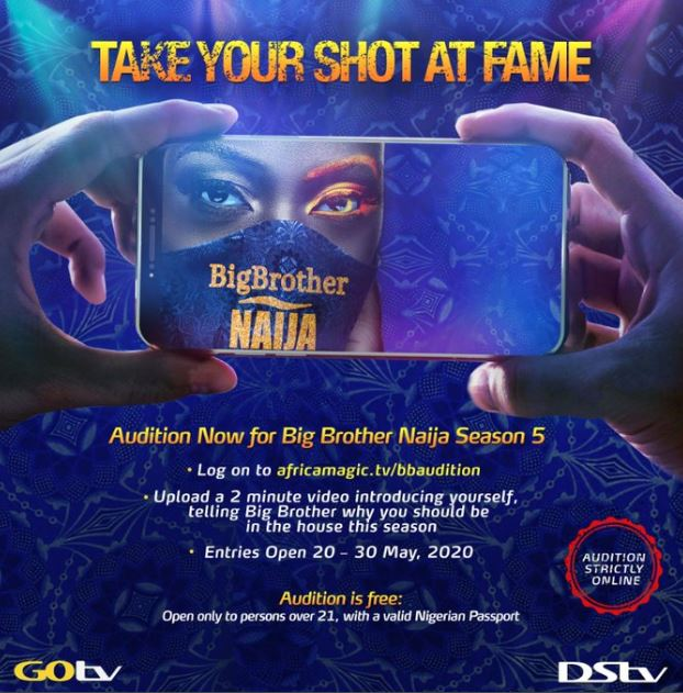 #BBNaija Season 5 Is Here! See How To Audition For Big Brother Naija 2020 Edition