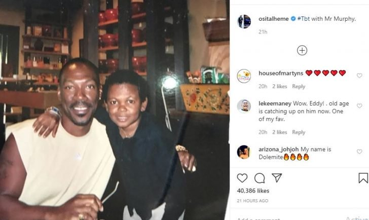 Osita Iheme Shares Throwback Photo With American Actor, Eddie Murphy