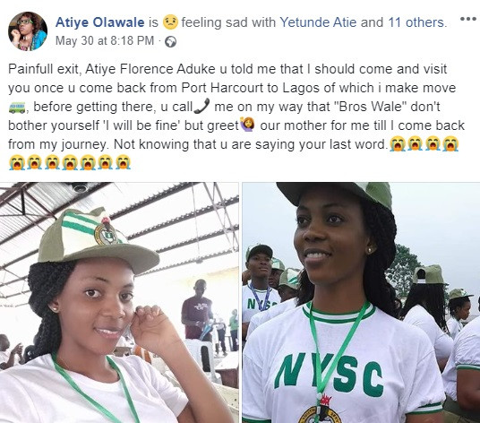 Corps Member Slumps And Dies In Rivers State