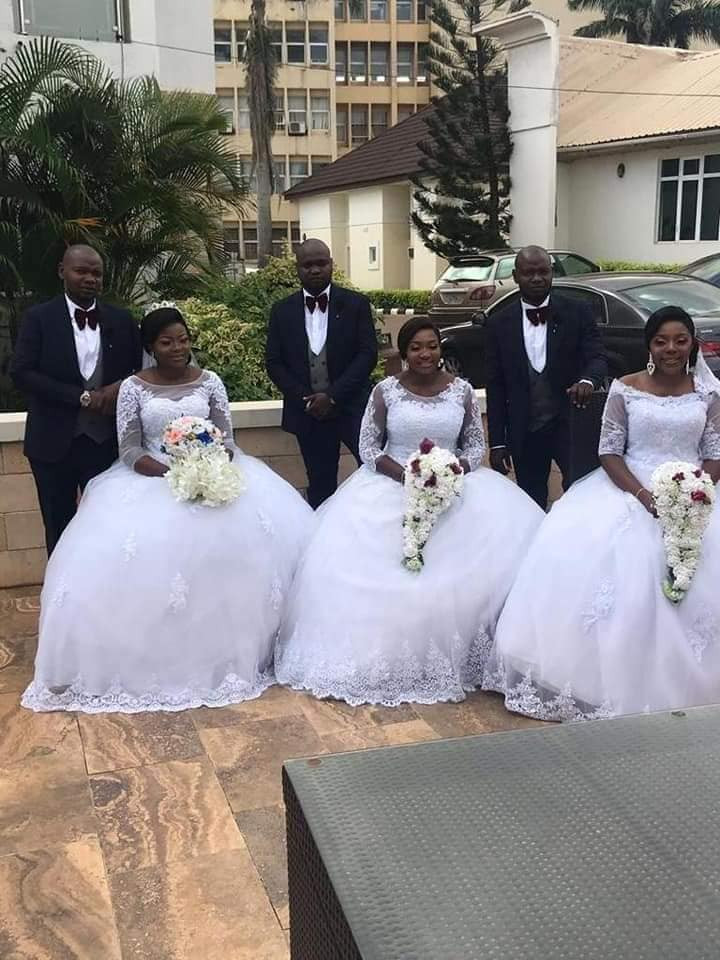 Two Sets Of Triplets Get Married To Each Other On The Same Day In Enugu (Photos)