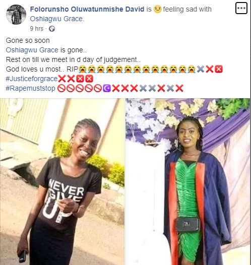 Grace Oshiagwu: Another Female Student Raped And Killed Inside A Church In Ibadan
