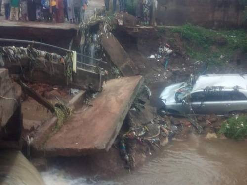Bridge Collapses In Kwara State, One Person Confirmed Dead (Photos)