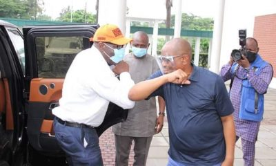 Governor Nyesom Wike Hosts Governor Obaseki In Rivers State After APC Disqualified Him (Photos) 2