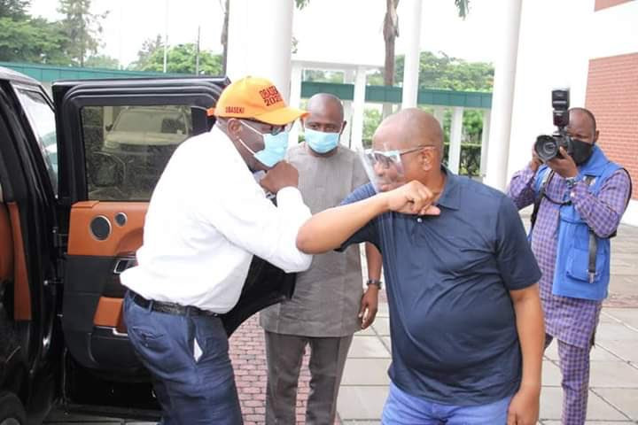 Governor Nyesom Wike Hosts Governor Obaseki In Rivers State After APC Disqualified Him (Photos)