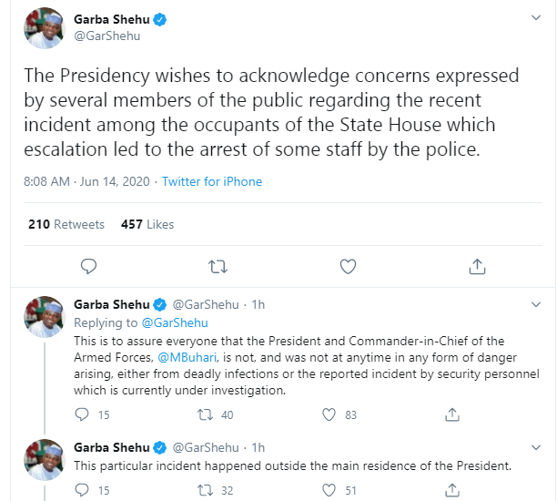 Presidency Reacts To Shooting In Presidential Villa