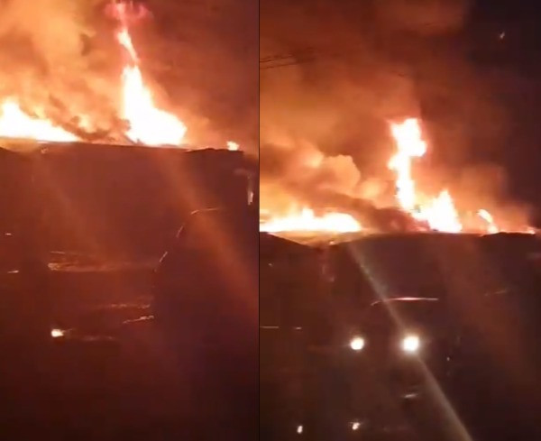 Fire Razes 11 Shops In Lagos, Properties Worth Millions Of Naira Destroyed (Photos)