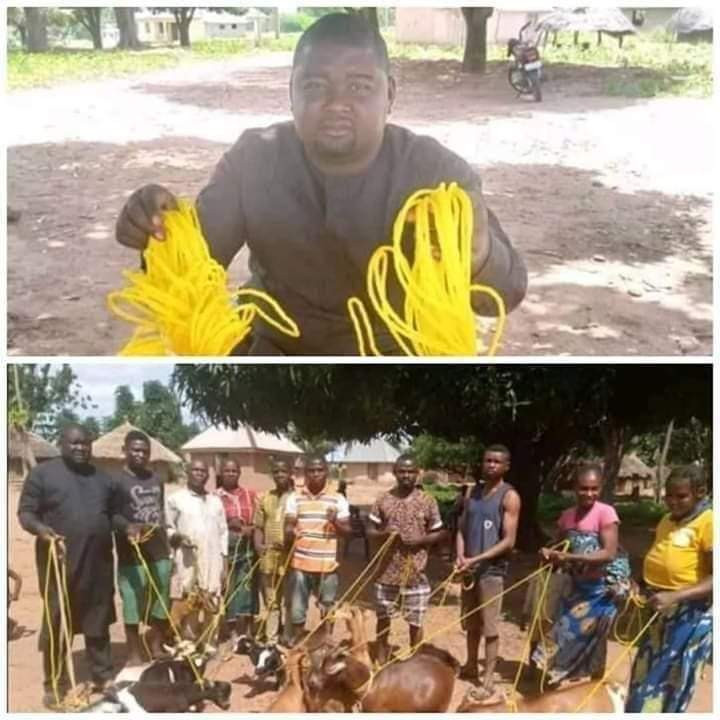 Benue State Politician, Daniel Ukpera, Donates Ropes To His Village People To Tie Their Goats (Photos)