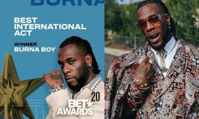 Bet Awards2020: Burna Boy Wins Best International Act (Full List of Winners)