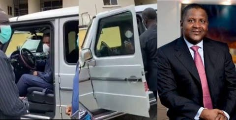 Dangote Drove Himself To Pay Condolence Visit To Pastor Ituah Over His Wife's Death (Video)