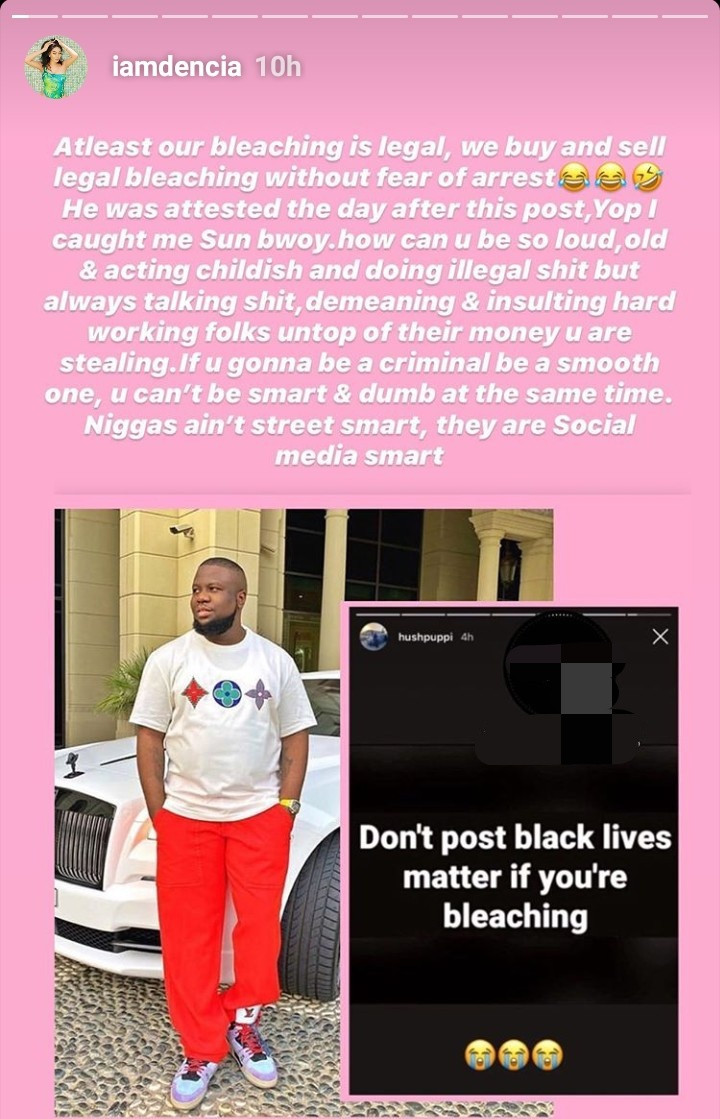 Dencia Mocks Hushpuppi After His Arrest 3