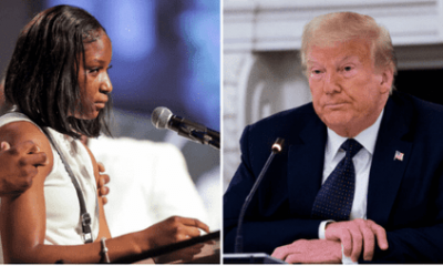George Floyd's Niece Slams Trump In Emotional Eulogy