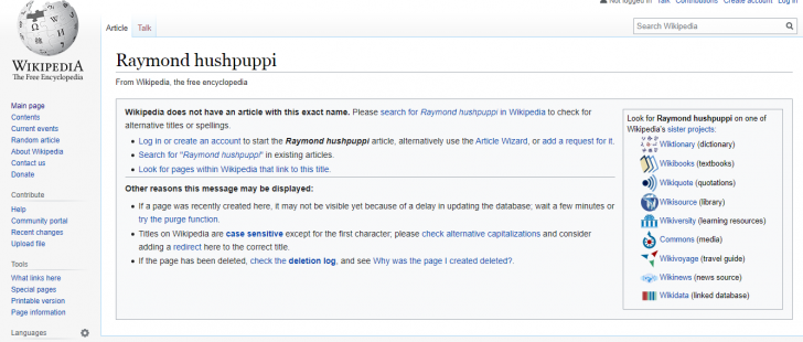 Wikipedia Removes Huspuppi's Page From Their Website