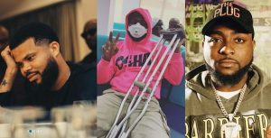 Davido's Manager, Asa Asika Gives Update On Leg Injury 6
