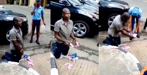 Man Caught With Used Sanitary Pads In Lagos (Video)