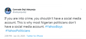 If You Are Into Crime, You Don't Need A Social Media Account, Deji Adeyanju Warns Fraudsters 4