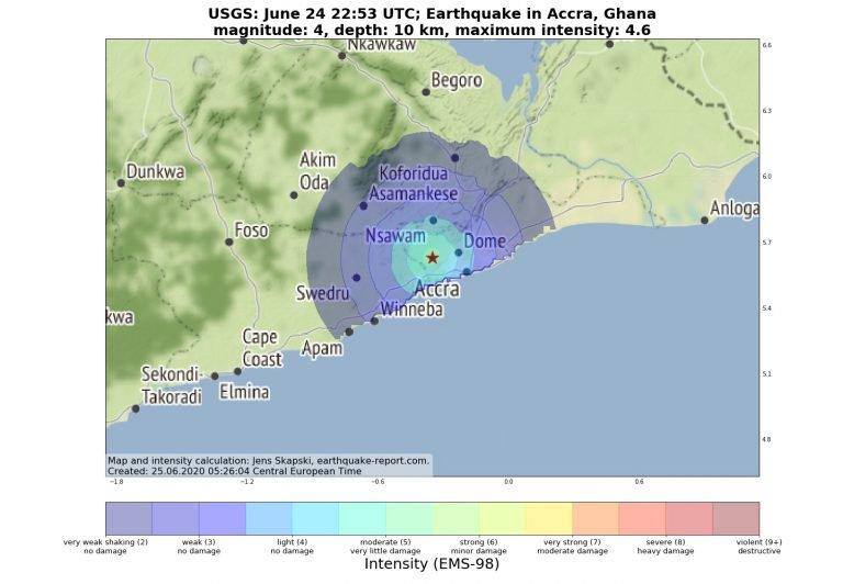 Magnitude 4.0 Earthquake Hits Accra, Ghana